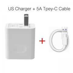 For Huawei Original Super Charger Travel Quick Fast Charger QC 3.0 5A US Plug With Type C USB Cable