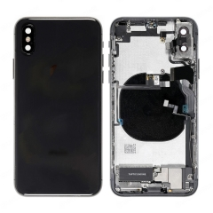 For iPhone X Battery Back Housing Frame Assembly With Small Parts Black