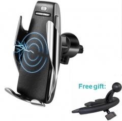 Wireless Automatic Clamp Car Charger Air Fventilation for phone Holder 360 Degree Rotation Charging Mount Bracket