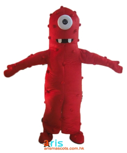 Adult Fancy Yo Gabba Gabba Character Party Muno Mascot Costume Cartoon Mascots For Sale Deguisement Mascotte Buy Mascot Outfits Online