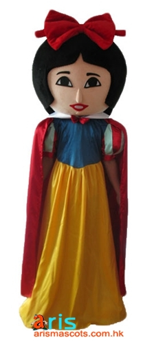Adult Fancy Princess Snow White Mascot Costume Disney Cartoon Character Mascot Outfits for Party Mascots for Sale