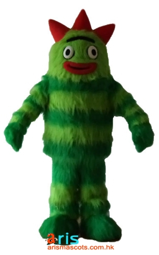 Adult Fancy Yo Gabba Gabba Brobee Mascot Costume Sesame Street Cartoon Character  Mascot Cosplay Costumes for Party