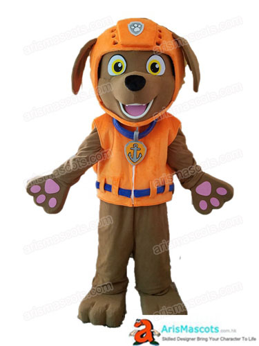 Paw Patrol Dog Costume Adult Size Zuma Mascot Full Body Fancy Dress Plush Suit Carnival Costumes Halloween Outfit