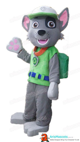 Paw Patrol Mascot Costume Rubble Fancy Dress Adult Size Full Body Plush Suit Carnival Costumes