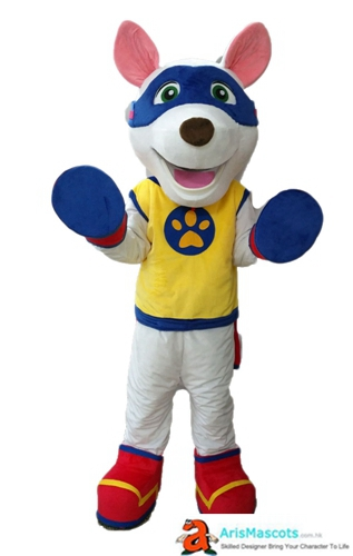 Paw Patrol Character Costume Appolo Fancy Dress Adult Size Full Body Plush Mascot Suit