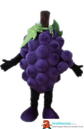 Funny Adult Deguisement Mascotte Fancy Grape Mascot Costume Fruit Mascots Cosplay Costume Advertising Mascots Custom Funny Mascot Costumes for Sale