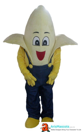 Fancy Mascot Fruit Banana Cosplay Costume Deguisement Mascotte Advertising Mascots Custom Funny Mascot Costumes for Sale