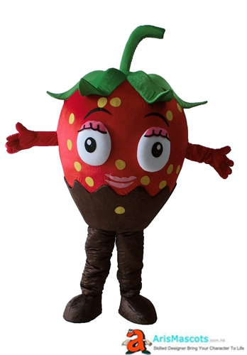 Deguisement Mascotte Fancy Strawberry Mascot Costume Fruit Mascots Cosplay Costume Advertising Mascots Custom Funny Mascot Costumes for Sale