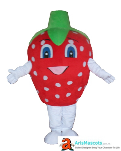 Funny Strawberry Mascot Costume Fruit Mascots Cosplay Costume Advertising Mascots Custom Deguisement Mascotte Funny Mascot Costumes for Sale