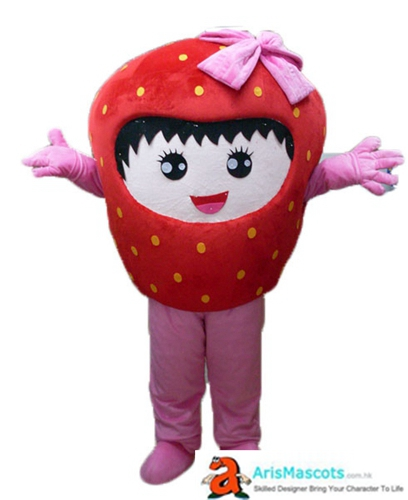 Fancy Strawberry Mascot Costume Deguisement Mascotte Fruit Mascots Cosplay Costume Advertising Mascots Custom Funny Mascot Costumes for Sale