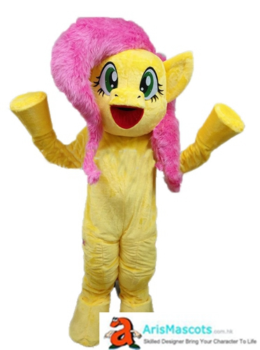 Adult Fancy My Little Pony Fluttershy Mascot Costume For Party Buy Mascots Online Custom Mascot Costumes Arismascots Cheap Mascot Costume Deguise