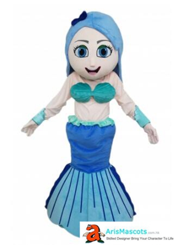 Adult Fancy Mermaid Princess Mascot Costume For Party Cartoon Mascot Costumes for Kids Birthday Party Custom Mascots at Arismascots Character Design