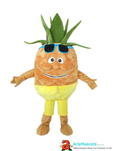 Adult Size Deguisement Mascotte Fancy Mascot Fruit Pineapple Cosplay Costume  Advertising Mascots Custom Funny Mascot Costumes for Sale