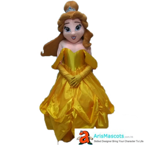Fancy Princess Belle Mascot Adult Costume Disney Princess Character Costumes Party Funny Mascot Costumes
