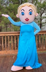Adult Fancy Frozen Princess Elsa Mascot Costume Disney Cartoon Character Mascot Outfits for Sale