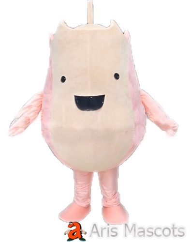 Pink Pear Costume Adult Full Mascot Outfit Big Smile Cute Fruits Mascots for Carnival Event