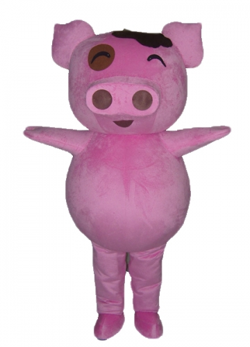 Pink pig Mascot, Funny and Giant Pig Full Fancy Dress up