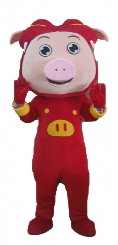 Lovely Big Head Mascot Pig Fancy Dress for Sale