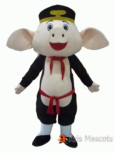 Mascot Pig Costume Full Adult Outfit, Funny Mascot Costumes for Sale