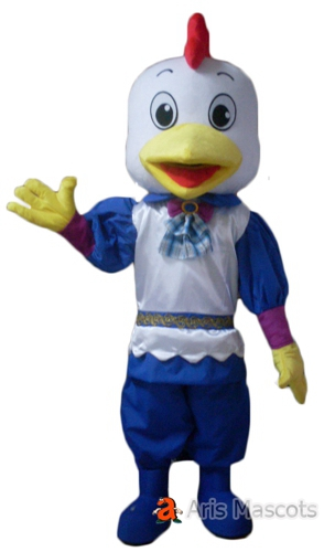 Mascot Hen Costume with Dress, Boy Chicken Adult Suit