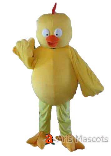 Mascot Chicken Costume Big Head Full Body Chicken Outfit
