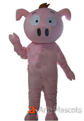 Pink Pig Full Body Mascot Adult Suit-Cosplay Pig Fancy Dress Cheap Mascots