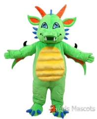 Lovely Green Dragon Mascot Costume Full Body Plush Suit Adult Size Fancy Dress Animal Mascots Carnival Costumes