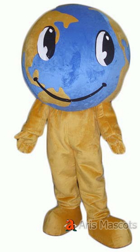 Giant Planet Earth Mascot Costume with Big Eyes, The Earth Cosplay Dress