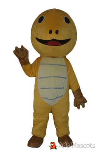 Mascot Turtle Adult Costume, Brown Turtle Suit with Big Smile