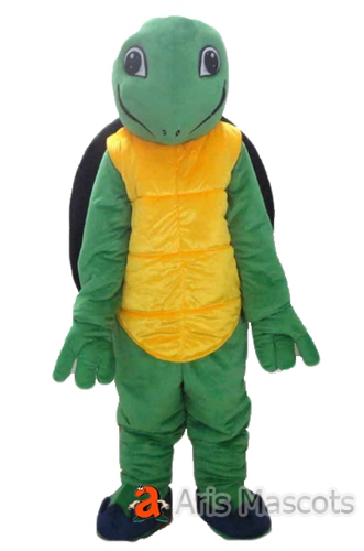 Lovely Mascot Green Turtle Costume with Shell , Cosplay Turtle Dress