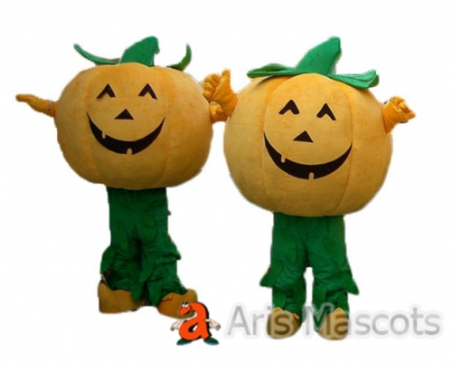 Real Life Happy Pumpkin Mascot costume for Adults, Pumpkin Halloween Costume