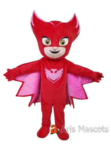 Red Owelette Gecko Costume Adult Owelette Fancy Dress Full Body Mascot Suit