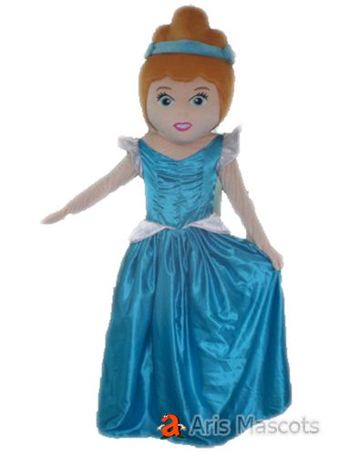 Cinderella Princess Costume for Adults, Mascot Princess Cinderella Fancy Dress