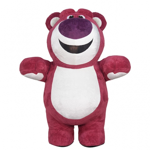 2m/2.6m/3m Giant Mascot Inflatable Lotso Bear Costume Cartoon Character Costumes for Sale-Disguise Lotso Bear Blow up Suit for Parades