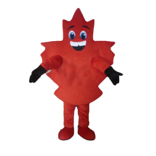 Mascot Canadian red maple leaf Adult Full Body Outfit