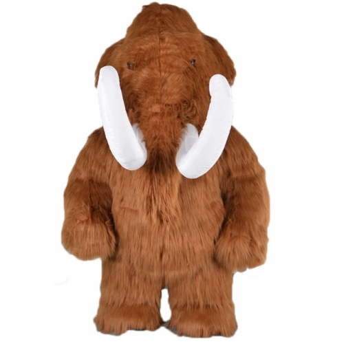 2m/2.6m/3m Giant Plush Mammoth Costume Full Body Adult Size Fursuit Mascot Mammoth Fancy Dress Carnival Costumes