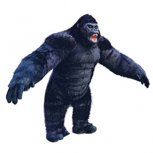2.5m Giant King Kong Inflatable Costume Adult Size Full Body Scary Gorilla Blow up Suit Halloween Fancy Dress Chimpanzee Cosplay Outfit