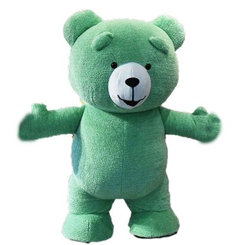 2m/2.6m/3m Giant Inflatable Teddy Bear Costume Multiple Colors Plush Mascot Bear Blow Up Fursuit for Events Adults Size Fancy Dress