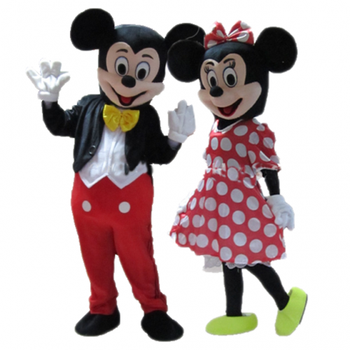 Adult Size Couple of Mickey and Minnie Mouse Costume for Events Full Body Mickey & Minnie Fancy Dress