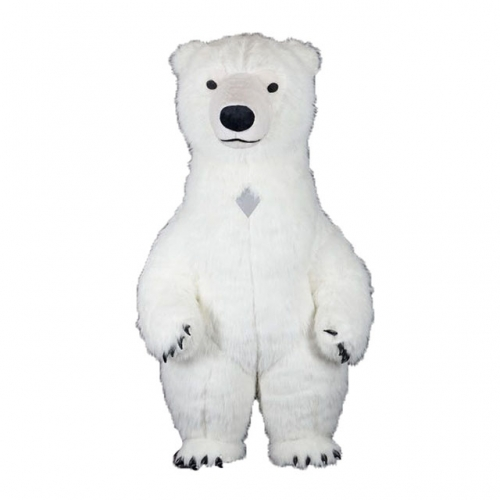 2m/2.6m/3m Giant Polar Bear Mascot Costume Inflatable Suit Blow up Suit Full Body Plush Fursuit Carnival Fancy Dress