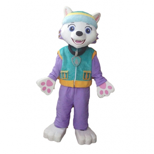 Everest Paw Patrol Costume Adult Everest Fancy Dress for Events Party Full Body Plush Suit Halloween Outfit