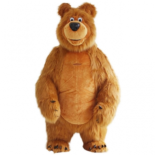 2m/2.6m/3m Giant Inflatable Masha the Bear Costume Full Body Mascot Plush Suit  Adult Size Fancy Dress Carnival Costumes Blow Up Masha the Bear