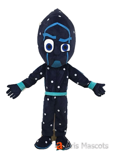 Night NInja Mascot Costume Adult Size Full Body Fancy Dress Cartoon Character Mascots for Events and Festivals