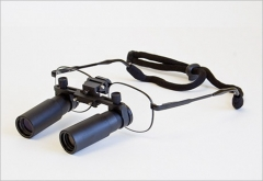 Flip Up Prismatic Loupes 4.0X Titanium...