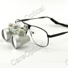 Flip up waterproof galilean loupes 3.5X Titanium Frames