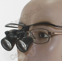 Flip Up 2.5X dental loupes surgical loupes stainless steel Frames