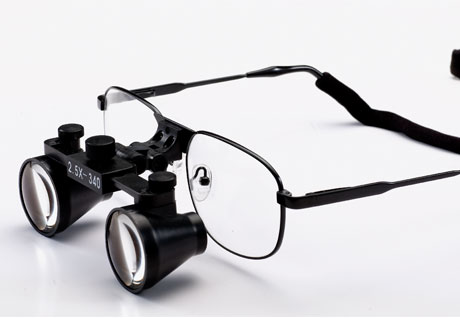 Flip Up 2.5X dental loupes surgical loupes Titanium frames