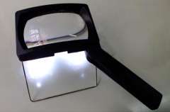 Rechargeable LED folding magnifier with holder C-7854