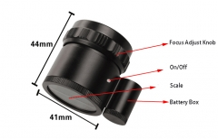 Adjustable Focus loupe with LED  C-6804 SERIES