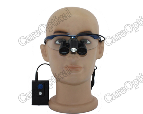 Flip Up 2.5X dental loupes surgical loupes sports Frames with light H60